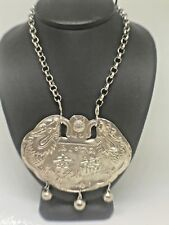 Vintage Sterling Silver Tibetan/Nepal Buddhist Religious Ceremony Necklace