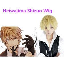 Cosplay Wig  Heiwajima shizuo Short Blonde Cosplay Hair Wig Synthetic Wig NEW
