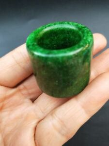 Chinese nephrite Jade Archer's Thumb Ring Banzhi Rare