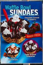 Dairy Queen Promotional Poster For Backlit Menu Sign Waffle Bowl Sundaes dq2
