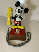 Vintage 1970's Walt Disney Mickey Mouse Telephone in Exceptional Condition