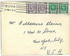 FIJI -  POSTAL HISTORY:  COVER to USA 1934