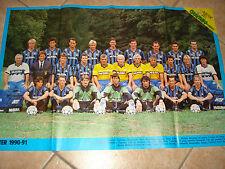 MAXI POSTER 80 X 54 LA SQUADRA FC INTER CALCIO 1990-1991 90-91 RETRO GENOA