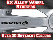 8x Mazda 6 Vinyl Stickers Decals for Alloy Wheels, Door Handles, Mirrors etc