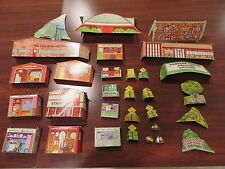 motorific slot car board scenery group 29 pieces + 5 misc