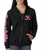 Ducked Up Apparel,Women's Duck Hunting hoodie,decoy,call,blind,pink,funny