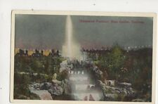 Illuminated Fountain Rose Garden Southsea Vintage Postcard 317b