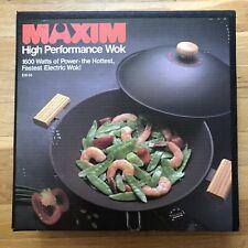 Electric Wok By Salton Maxim 1600 Watt High Performance Model EW-50