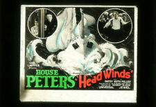 HEAD WINDS Rare '25 Silent Film HOUSE PETERS Movie Glass Slide PATSY RUTH MILLER