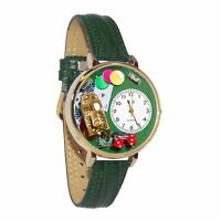 Whimsical Watches Unisex G0430005 Casino Green Leather Watch