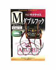 6293 Size 1 Sasame N-310 Trout Spoon Twin Assist Hook Red Fusso LL
