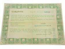 Rolex certificate serial number 5.009.417 genuine garanzia certificato originale