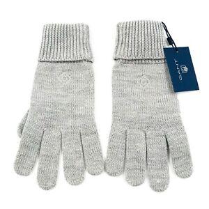 GANT Grau 100%Merino Wolle Strick Handschuhe Einheitsgröße