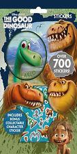 IL BUONO Dinosauro Set di 700 ADESIVI 9 FOGLI NATALE REGALO PACCHETTO FESTA