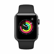 Apple Watch Series 3 GPS 38mm Alu schwarzes Armband Smartwatch