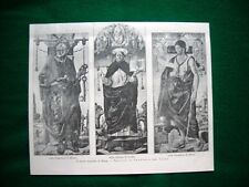 Brera nel 1893 - Trittico di Francesco del Cossa, nella Pinacoteca di Milano