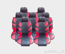 FULL SET 7X RED SEAT COVERS CUSHION FOR 7 SEATER CAR MPV VAN