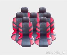 Set Completo 7x Roja Asiento Cubre Amortiguador Para 7 asientos Seat Alhambra