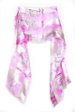 Cute Cloud/pink Floral Graphic Print Satin Unique Statement Inspired Scarf(S5)