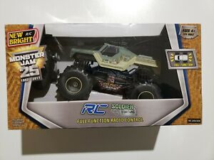 New Bright Monster Jam 25 Soldier Fortune RC Remote Truck Camouflage Green