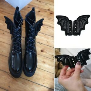 Bat Wings DIY Shoe Accessories Gothic Halloween Party Boots Sneakers Ornament