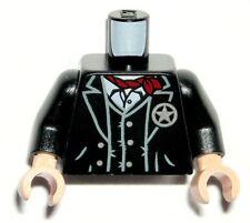 LEGO Black Cowboy Minifigure TORSO The Lone Ranger Red Bandana/Sheriff Badge