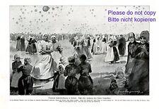 Globo lejos vuelo de competencia en volendam XL 1923 son impresiones artísticas Holland Edam +