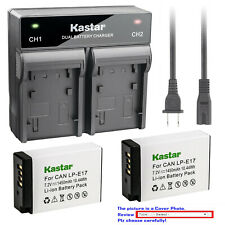 Kastar Battery AC Rapid Charger for Canon LPE17 EOS RP Mirrorless Digital Camera