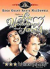 Brand New WS DVD Four Weddings and a Funeral (1993) Hugh Grant, Andie MacDowell