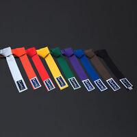 Blitz Karate/Judo/Taekwondo Plain Coloured Cotton Belt Martial Arts New...