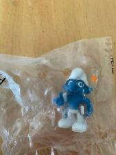 Smurfs 20734 Movie Brainy Smurf Student Book Vintage Figure Toy PVC Figurine