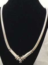 """Vintage Chinese Tibetan 950 Silver Deco 6.5mm Round Over 31 1/2"""" Necklace 217 Gr"""