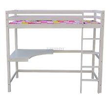 Westwood High Sleeper Cabin Wooden Frame Bunk Bed With Desk Kids Single 3ft