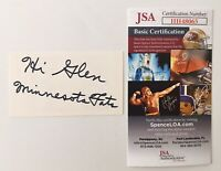 Minnesota Fats Signed Autographed 2X 3.5 Business Card JSA Certified The Hustler