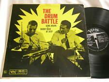 GENE KRUPA & BUDDY RICH Drum Battle at JATP Hank Jones Verve MGV 8369 dg LP