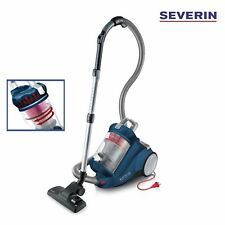New Severin German Bagless Canister Turbo Carpet & Hardwood Vacuum Cleaner Blue