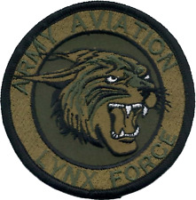 Army Aviation 'Lynx Force' Army Air Corps AAC Subdued MOD Embroidered Patch