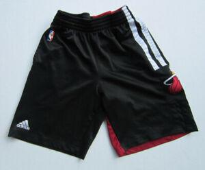 Adidas Miami Heat Youth Basketball Shorts w/ Pockets Red & Black Shorts Size S