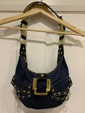 Guess Mini Denim Handbag Dark Blue