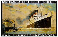 S.S. France - 1912   Poster  12 x 18   OL-0012