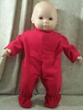 """Doll Clothes Bitty Baby Made 2 Fit American Girl 15"""" inch Pajamas Boy Twin Red"""
