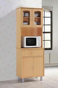 Hodedah Free Standing Kitchen Cabinet, Beech