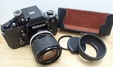 Nikon F2 Camera 35mm **TESTED** w Filter + Cap + Shroud