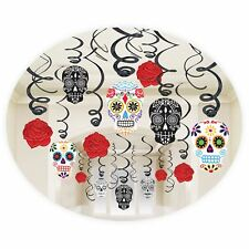 Dia los Muertos Sugar Skull Day of the Dead Swirl Hanging Foil Party Decoration
