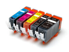 5 New Ink Pack plus Chip for Canon Series PGI-5 CLI-8 MP530 600 MP800 830 MX850