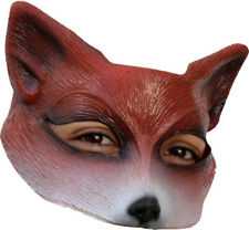 RED FOX LATEX HALF FACE MASK ANIMAL CHARACTER PLAY HALLOWEEN FUN