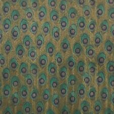 Wallpaper Peacock textured wall coverings rolls faux animal Green Gold Metallic