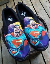 BIOWORLD Men's DC Comics Full Graphic SUPERMAN Slip On Shoes Adult 11 NWOT