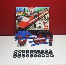 Lego, 30 x anelli di aderenza per LEGO ferrovia, nero, 4,5V/12V, treno, motore,