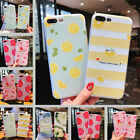 For iPhone X 8 6s 7 Plus Cute Fruits Pattern Slim Relief Matte Soft Case Cover